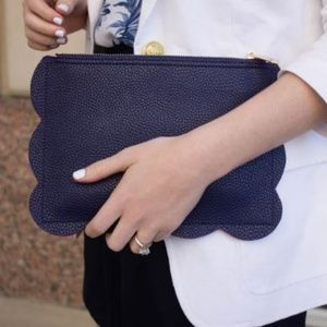 Deux Lux Navy Clutch - Like New!!